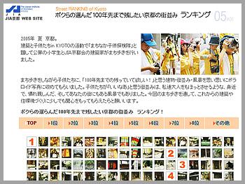 第4回 まちなか子供探検隊「100年先まで残したい京都の街並み」