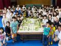 京のまちと子供たちのジオラマ