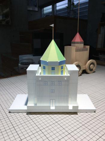 イタリアの建築家アルド・ロッシの世界劇場 ペーパークラフト建築模型