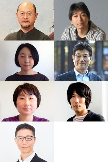 左上から:萬野光雄、梅原悟、岡田良子、小田裕美、後藤直子、田所克庸、波多野崇